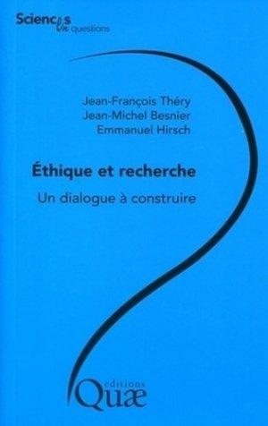 Éthique et recherche - quae  - 9782759210473 -