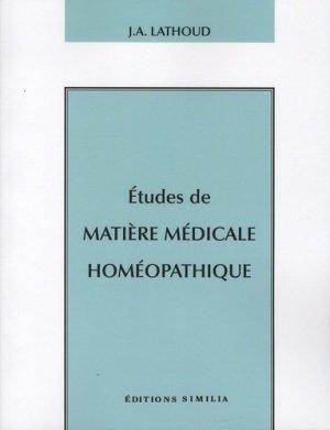Etudes de matière médicale homéopathique - similia - 9782842510770 - https://fr.calameo.com/read/004967773b9b649212fd0