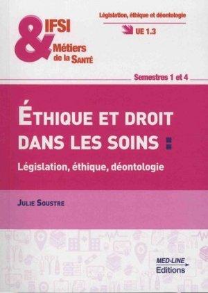 Éthique et droit dans les soins - med-line - 9782846782296 -
