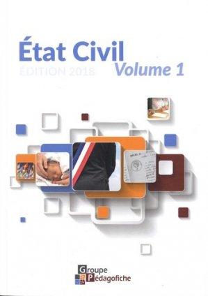 Etat civil. Volume 1, Edition 2018 - Pédagofiche - 9782914625869 -