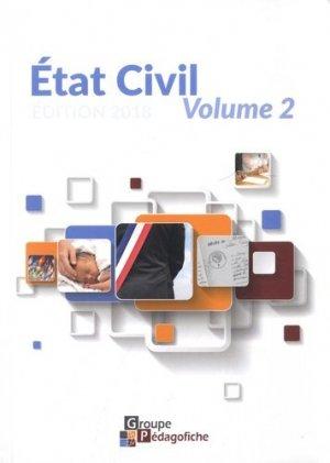 Etat civil. Volume 2, Edition 2018 - Pédagofiche - 9782914625876 -