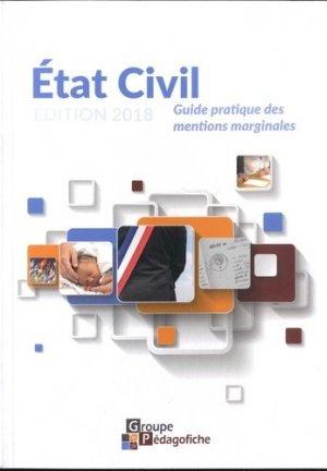 Etat civil. Guide pratique des mentions marginales, Edition 2018 - Pédagofiche - 9782914625883 -