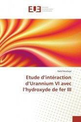 Etude d'intéraction d'Urannium VI avec l'hydroxyde de fer III-universitaires europeennes-9783639747836