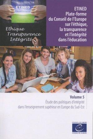 ETINED Plate-forme du Conseil de l'Europe sur l'éthique, la transparence et l'intégrité dans l'éducation - Conseil de l'Europe - 9789287185143 -