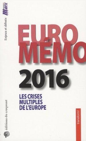 EuroMémorandum 2016 - Editions du Croquant - 9782365120869 -