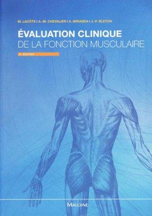 Évaluation clinique de la fonction musculaire-maloine-9782224030193