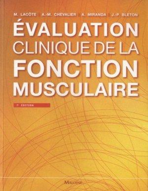 Évaluation clinique de la fonction musculaire - maloine - 9782224033507 -