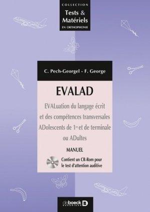 Evalad - Pack avec un manuel, un livret de passation et cotation, 10 livrets d'enregistrement et 10 planches - solal - 9782353271092 -