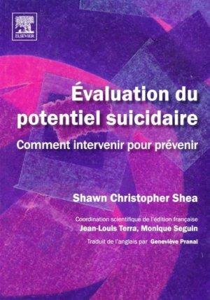 Évaluation du potentiel suicidaire - elsevier / masson - 9782842998516 -