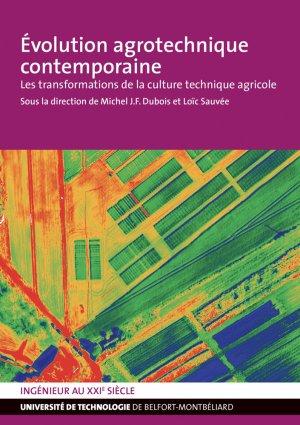 Evolution agrotechnique contemporaine - utbm - 9791091901178 -