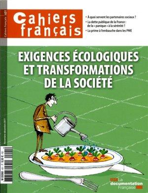 Exigence ecologique et transformations de la societe - la documentation française - 3303330404010