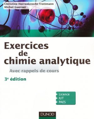 Exercices de Chimie analytique - dunod - 9782100556137 -