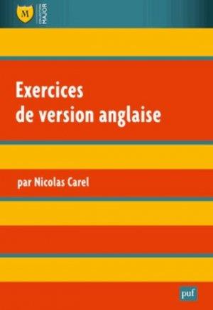 Exercices de version anglaise - puf - presses universitaires de france - 9782130608035 -