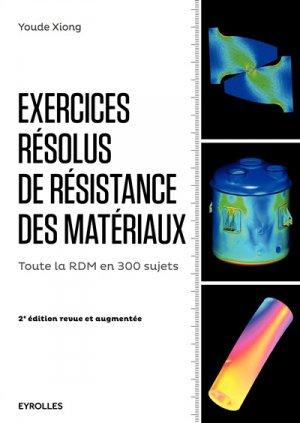 Exercices résolus de résistance des matériaux - eyrolles - 9782212143195