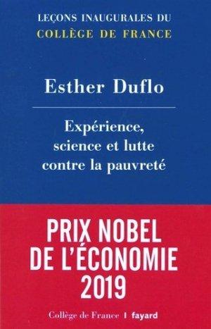 Experience, science et lutte contre la pauvreté - Fayard - 9782213644127 -