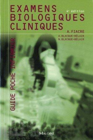Examens biologiques cliniques - maloine - 9782224032616