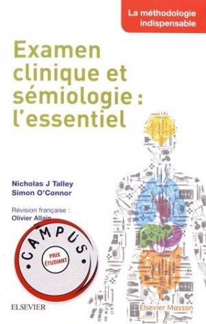 Examen clinique et sémiologie : l'essentiel - elsevier / masson - 9782294761126 -
