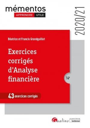 Exercices corrigés d'analyse financière - gualino - 9782297076869 -