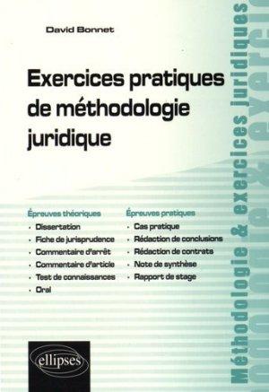 Exercices pratiques de méthodologie juridique - Ellipses - 9782340007000 -