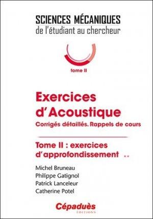 Exercices d'acoustique - cépaduès - 9782364937536 -