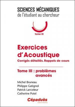 Exercices d'Acoustique - cepadues - 9782364938878 -