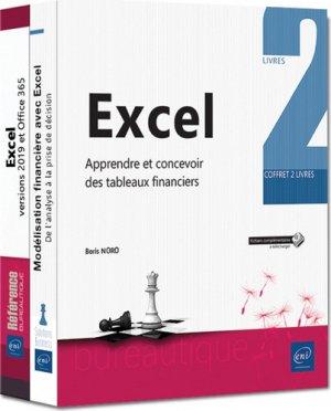 Excel - coffret de 2 livres :  apprendre et concevoir des tableaux financiers - eni - 9782409018732 -