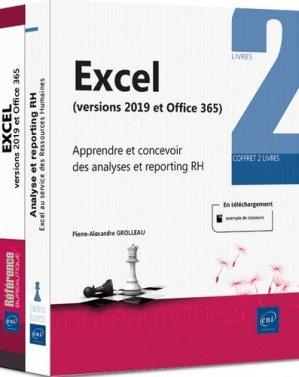 Excel 2019, Apprendre et concevoir des analyses et reporting RH. Coffret en 2 volumes : Excel versions 2019 et Office 365 ; Analyse et reporting RH. Excel au service des ressources humaines - eni - 9782409023941 -