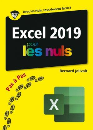 Excel 2019 pas à pas pour les nuls - First - 9782412046562 -