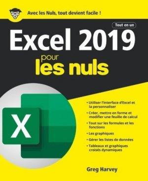 Excel 2019 tout en un pour les nuls - First - 9782412048696 -