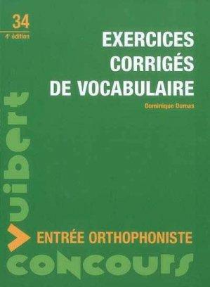 Exercices corrigés de vocabulaire - Vuibert - 9782711714926 -