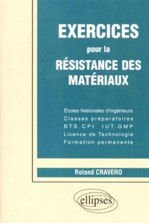 Exercices pour la résistance des matériaux - ellipses - 9782729848460 -
