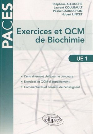 Exercices et QCM de Biochimie - ellipses - 9782729876630 -
