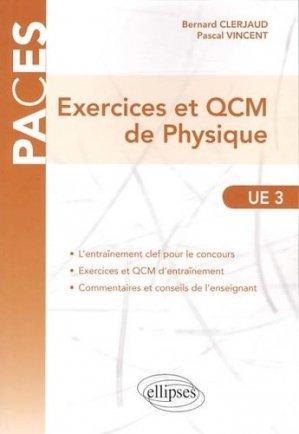 Exercices et QCM de Physique - ellipses - 9782729876708