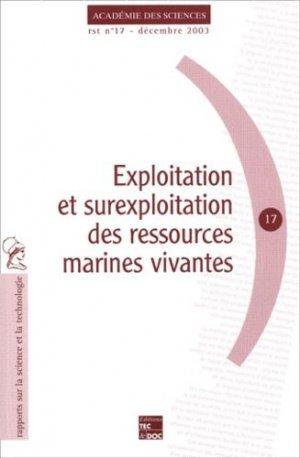 Exploitation et surexploitation des ressources marines vivantes - lavoisier / tec et doc - 9782743006457