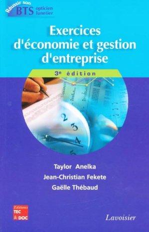Exercices d'économie et gestion d'entreprise - lavoisier / tec et doc - 9782743013141 -