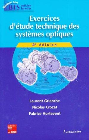 Exercices d'etude technique des systèmes optiques - lavoisier / tec et doc - 9782743013912 -