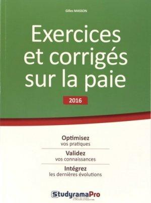 Exercices et corrigés sur la paie - StudyramaPro - 9782759031955 -