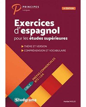 Exercices d'espagnol pour les études supérieures - studyrama - 9782759040780 -