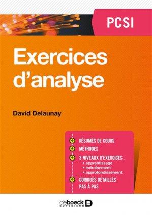 Exercices d4Analyse PCSI - de boeck superieur - 9782807315433 -