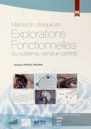 Explorations fonctionnelles du système nerveux central - vernazobres grego - 9782818312490 -