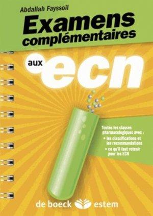 Examens complémentaires aux ECN - estem - 9782843715433 -