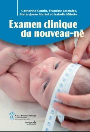 Examen clinique du nouveau-né - chu sainte-justine - 9782896196753 -