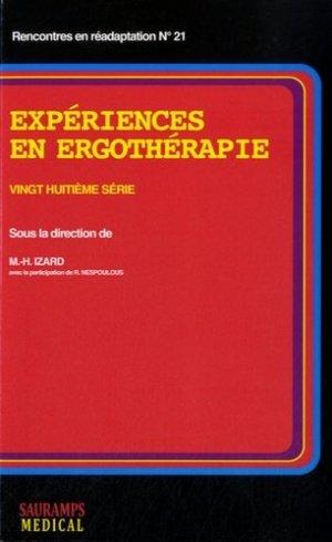 Expériences en ergothérapie - sauramps medical - 9791030300253 -