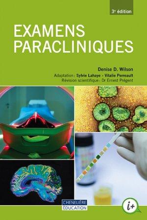 Examens paracliniques - cheneliere education (canada) - 9998201910017 -