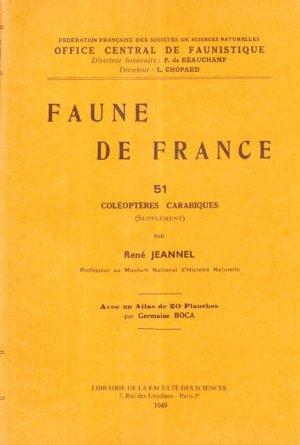 Faune de France n°51 coléoptères carabiques - museum national d'histoire naturelle - mnhn - 2223618945107 -
