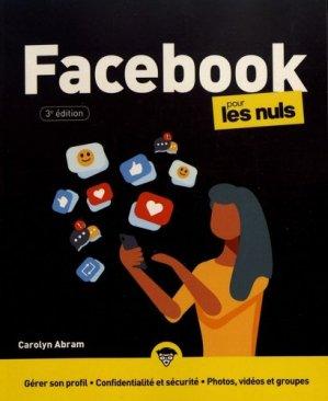 Facebook pour les nuls - First - 9782412055991 -