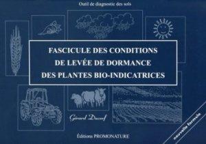 Fascicule des conditions de levées de dormance des plantes bio-indicatrices - promonature - 9791091115018