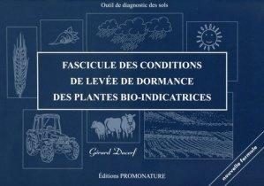 Fascicule des conditions de levées de dormance des plantes bio-indicatrices - promonature - 9791091115018 -