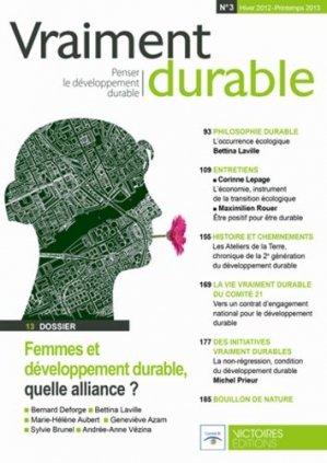 Femmes et développement durable, quelle alliance ? - Editions Victoires - 9782351132135 -