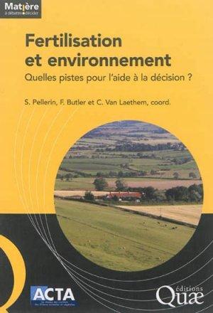 Fertilisation et environnement - quae  - 9782759220557 -